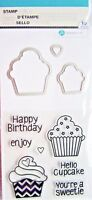 Birthday Cupcakes Clear Acrylic Stamp & Die Set by Hampton Art SC0791 NEW!