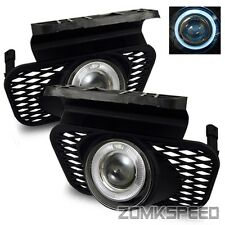 Fits 03-06 Chevy Silverado/02-05 Avalanche Clear Halo Projector Fog Lights Lamps