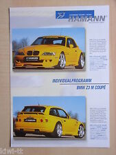 Hamann Motorsport BMW z3 M COUPE TUNING, prospetto/brochure, D/GB