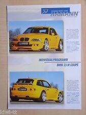 Hamann Motorsport BMW Z3 M Coupe Tuning, Prospekt / Brochure, D/GB