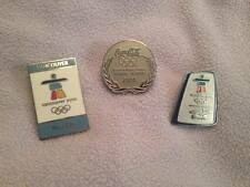 Vancouver 2010 Winter Olympic Lapel Pin Trio Coca Cola Bell Host City