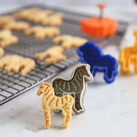 3D Animal 4pcs Fondant Cake Cutter Cookie Mold Plunger Decorating Mould Sale