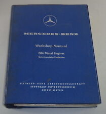 Workshop Manual Mercedes Benz Diesel Motor OM 636 + OM 621 Ponton Unimog etc.