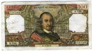 100 francs CORNEILLE   B 789
