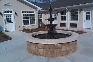 Outdoor Garden Water Fountain Cast Aluminum Antique French Victorian 3 Tier