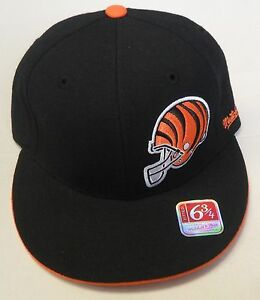 NFL Cincinnati Bengals Mitchell and Ness Fitted Cap Hat M&N NEW