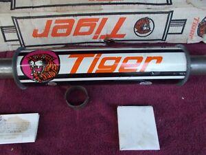 Man Cave Garage Art Tiger Orange Black Muffler Glasspack NOS VTG RATROD Kustom