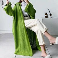 maxi cardigan waffle knit style cardigan winter long cardigan with wide sleeves