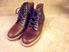 J CREW MEN KENTON  LEATHER BOOT BURNISHED TOBACCO SHOES 7.5 #b3634