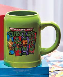 TMNT Stoneware Stein Mug Teenage Mutant Ninja Turtles 22oz Coffee Beverage NEW