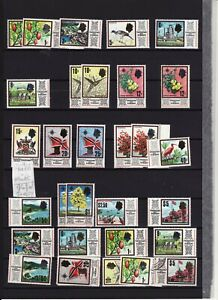 TRINIDAD & TOBAGO - 1969-72 SET 16 + OTHERS UNMOUNTED MINT + $5 USED