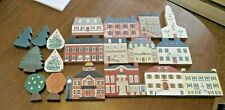 (20) Vintage Cat's Meow Village Houses Trees Inn Hospital Town Hall Christmas