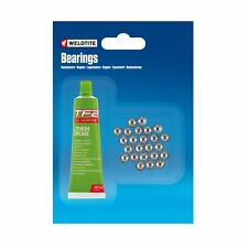 Weldtite 1/4 Ball Bearings Top Quality And White Lithium Grease 24 Balls 1/4""
