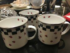Golden Rabbit Ii enamel ladybug cups (3)