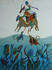 Vintage Signed GUTIERREZ? Whimsical Surreal Limited Edition Original Lithograph