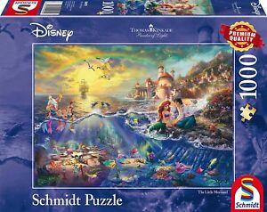 The Little Mermaid Ariel: Schmidt Disney Premium Kinkade Jigsaw Puzzle 1000 pces