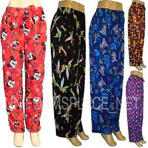 Disney Juniors girsl Pajamas PJ Lounge Fleece Pants sleepwear TINK MICKEY MINNIE