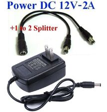 Ac Adapter Input Ac100-240 50/60Hz 0.4A Output Dc12v 2A + 1 to 2 Splitter