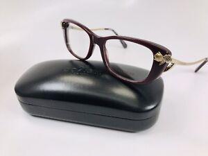 New Coach HC 6118B 5520 Dark Burgundy & Gold Eyeglasses 51mm with Case