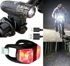 LED Bicycle Bike Cycling Front Rear Tail Light USB Rechargeable Lamp Back Cycle