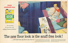 1955 vintage Ad Hard Gloss Glo Coat Johnson's Wax Art Marilyn Conover 072216