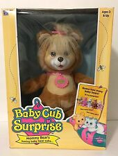 Vintage 1992 Hasbro Baby Cub Surprise Brown Tan New In Box With Babies