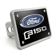 """Ford F150 2015 up 3D Logo Black 3/8"""" Thick Solid Billet Aluminum Tow Hitch Cover"""