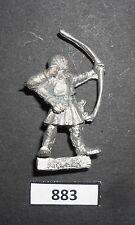 WARHAMMER Citadel METALLO C26 feudali Men at arms FIGHTER Archer pfelier 1985 W 883