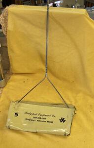 Vintage Metal Dust Pan w/ Handle International IH & Massey Ferguson Advertising