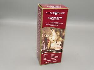 Surya Brasil Products Henna Cream, Dark Brown, 2.37 *NEW*