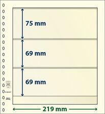 Lindner blank T-foglie con tre Borse im Da 10 Pack Art no. 802 307