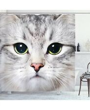 Ambesonne Cat shower Curtain. New. So Cute ! Lists For $56. B4.