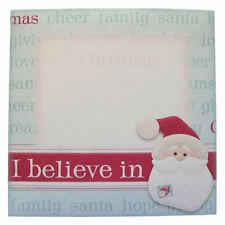 Pack of 5 Christmas Envelopes 6 x 6 Inches Square I Believe in Santa
