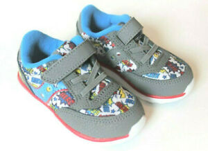 Saucony Jazz Light Super Hero Sneaker Shoes Baby Boys Infant Size 5 Gray Red NEW