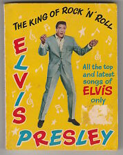 """ELVIS PRESLEY THE KING OF ROCK N ROLL 4""""X5"""" BOOK MADE IN ENGLAND ROTSAN & MAKHOM"""