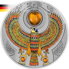 Niue 2017 2 $Falcon of Tutankhamun 2 Oz Proof Coin Silver