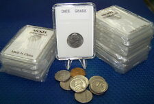10 Coin Holders Slab Style ** for US Nickel size --- 21 mm**