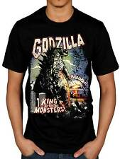 Official Godzilla Retro Poster T-Shirt Japanese King Of The Monsters Movie Merch