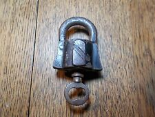 ANTIQUE RUSSIAN SCANDINAVIAN BARREL PADLOCK WITH KEY БРАТВЯ СЛОРЫШЕВ BROTHERS
