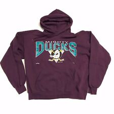 Vintage Men's Anaheim Mighty Ducks Sweat Top Hoodie Large NHL nutmeg starter 90