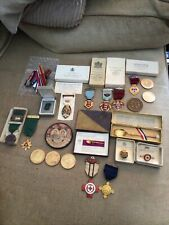 More details for vintage mixed lot items-coronation 1937,masonic medals,safe driving medals,coins