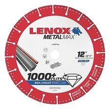 "Lenox 12"" x 1"" Hole Metal Max Diamond Edge Cut Off Wheel for Gas Saw #1972930"