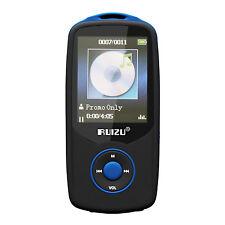 ruizu SMP3X06BL - MP3 Player (4GB, FM radio, MP3) black blue B4M7