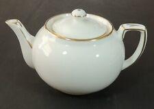 Hammersley England Bone China White Gold Trim Individual Solitaire Teapot New