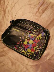 Authentic Playboy Collection Messenger Bag - Splatter Art Effect!