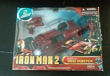 "New 2010 Iron Man 2 Mark VI Red Vortex Vehicle 10"" & Figure 4"" W/2 Missles"