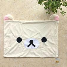 San-X Rilakkuma Relax Bear White Pillow Case 63*43cm Plush Top Sale Best gift