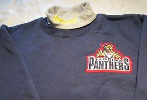 Florida Panthers Youth Sweat Shirt XL Turtleneck NHL Majestic 50/50 Vintage