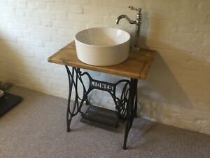 TRADITIONAL VICTORIAN VANITY UNIT RUSTIC BATHROOM WASH STAND SEWING MACHINE BASE