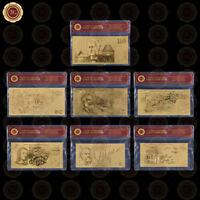WR 1966-1992 Old Australia $12 5 -$100 Dollars Note Gold Foil Banknote Set + COA